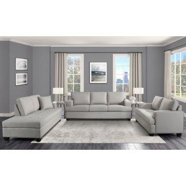 Houston Khaki Linen Sofa Collection
