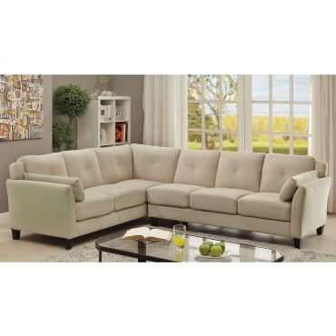 Howard Beige Fabric Contemporary Sectional