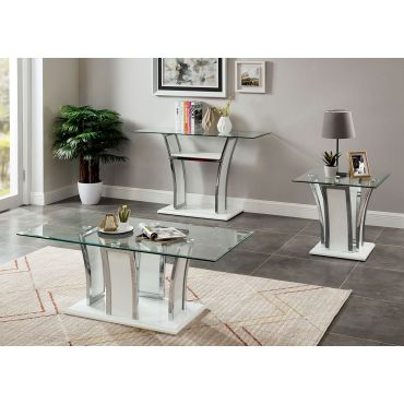 Hulo White Modern Coffee Table