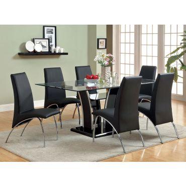 Hulo Black Modern Formal Dining Set