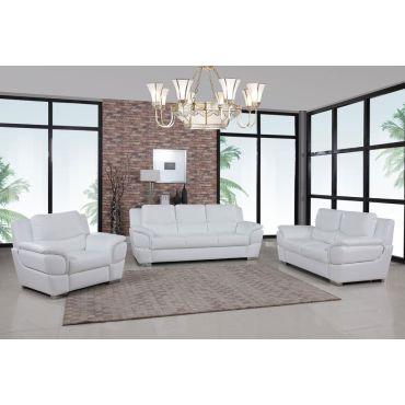 Huron White Leather Modern Sofa,Huron White Leather Sofa and Love Seat