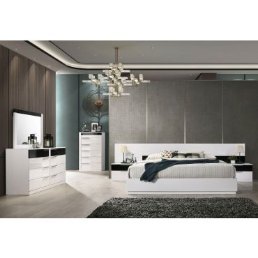 Impera Platform Bed Black & White