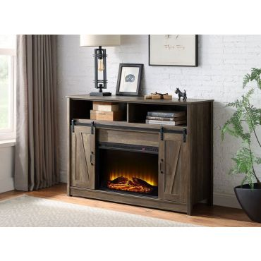 Imperia Industrial Style TV Stand Fireplace