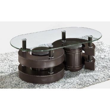 Infinity Brown Coffee Table Set With Stools