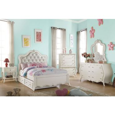Ira Youth Bedroom Collection Pearl White