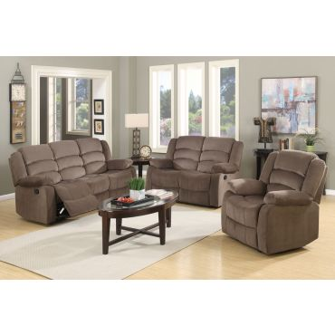 Jagger Brown Fabric Recliner Sofa Set