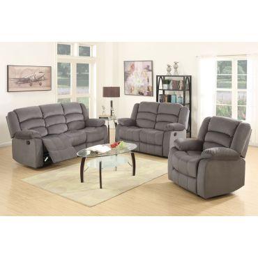 Jagger Grey Fabric Recliner Sofa Set