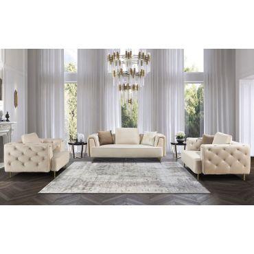 Jean Modern Sofa Beige Velvet