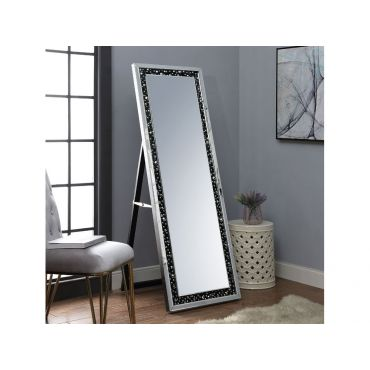 Jeffry Floor Mirror Black Trim Frame