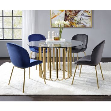 Jenny Round Glass Top Dining Table Set