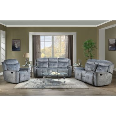 Jimenes Grey Fabric Reclining Sofa