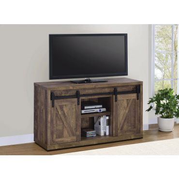 Jolin Rustic TV Console Barn Doors