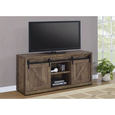 Woodland Rustic Brown Finish TV Stand