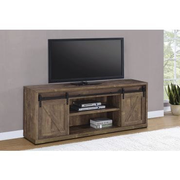 Jolin Rustic Oak Industrial TV Console
