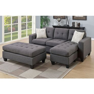 Jordan Fabric Sectional Sofa Set