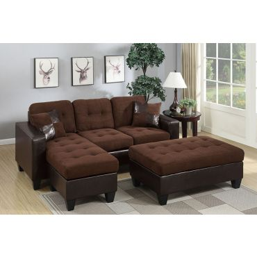 Jordan Compact Sectional With Ottoman