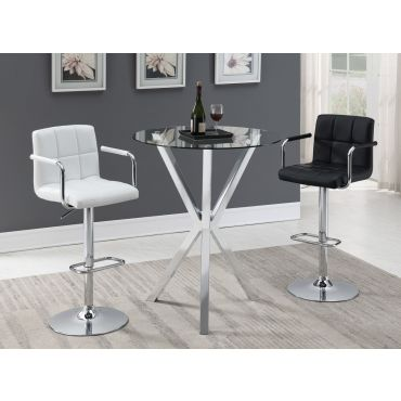 Joy Modern Glass Top Bar Table