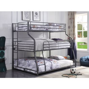 Jusper Twin Full Queen Triple Bunk Bed