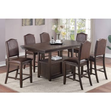 Justin 7-Piece Counter Height Table Set