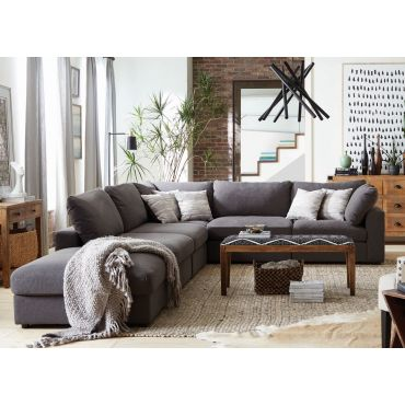 Kadence Modular Sectional Grey Linen