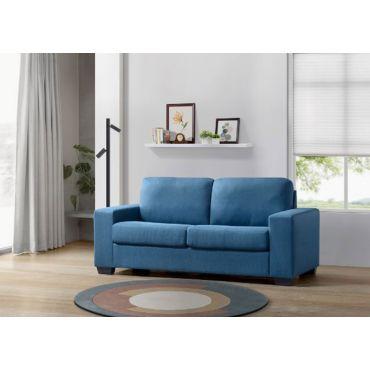Kai Blue Sofa With Queen Sleeper