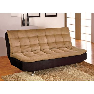 Kai Tan And Black Microfiber Futon
