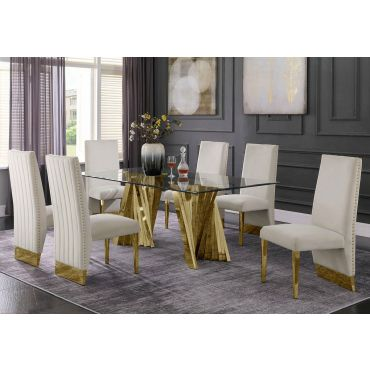 Kappa Gold Dining Table Set