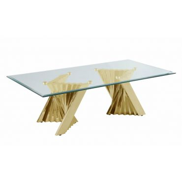 Kappa Gold Finish Modern Coffee Table