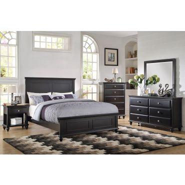 Karina Black Finish Bed