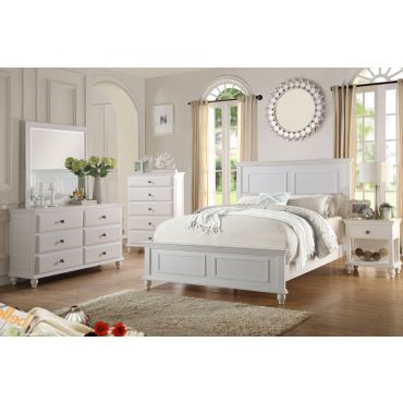 Karina Country Style Bedroom Furniture in White Finish