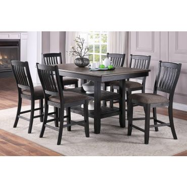 Keely 7-Piece Counter Height Dining Table Set