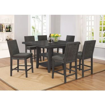 Keely Industrial Style Counter Height Table Set
