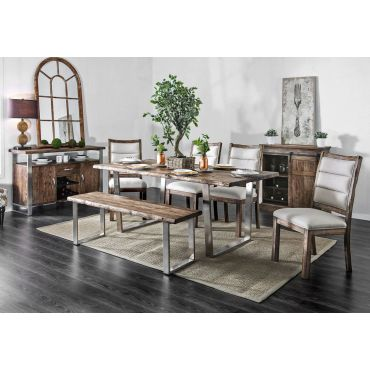 Keller Rustic Finish Dining Room Set