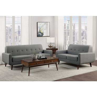 Kelvin Grey Linen Sofa