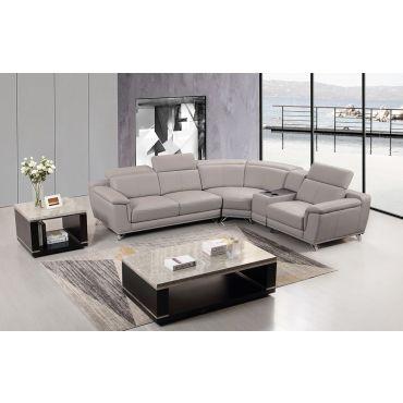 Kemy Adjustable Headrest Sectional Sofa