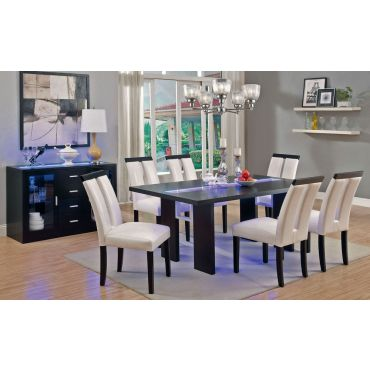Kenneth LED Light Dining Table Set