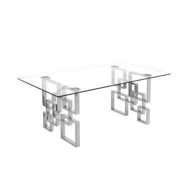 Kenza Glass Top Coffee Table