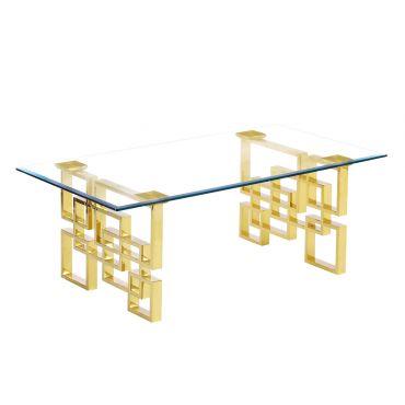 Kenza Modern Coffee Table Gold Finish