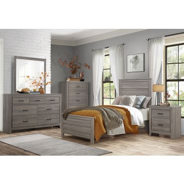 Kern Youth Bed Gray Finish