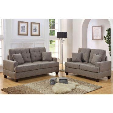 Kesson Coffee Brown Sofa Set