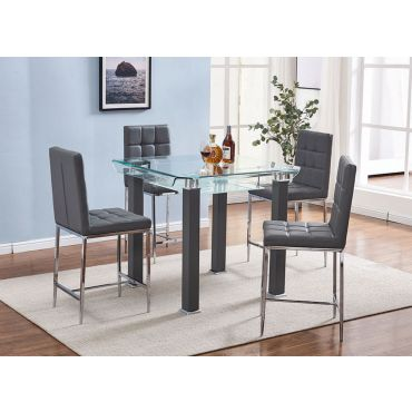Ketch Grey Counter Height Modern Table Set