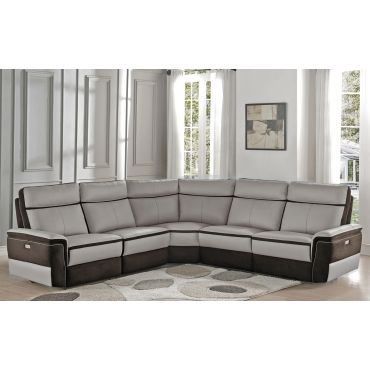 Kevin Top Grain Leather Power Recliner Sectional