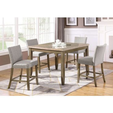 Lisbon Marble Top Pub Table Set