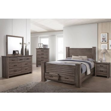 Klara Poster Bed With Storage Drawers