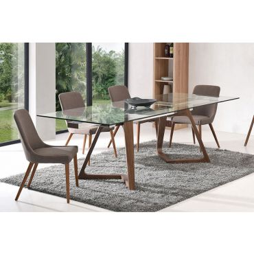 Knox Modern Glass Top Table Set