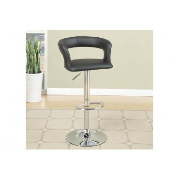 Jamila Leather Swivel Bar Stool Set of 2