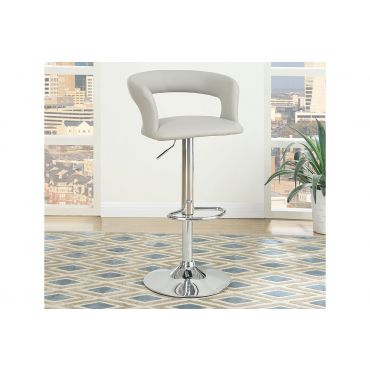 Kori Grey Leather Bar Stool Set of 2