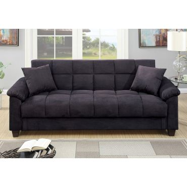 Kylie Microfiber Sofa Bed With Storage