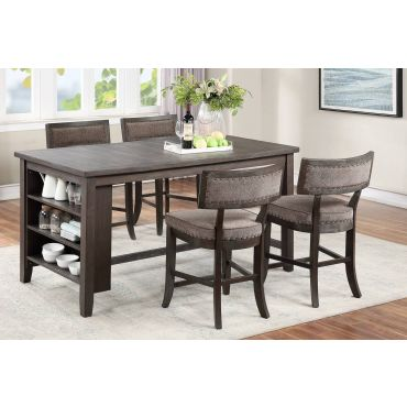 Landrum Rustic Espresso Island Table Set