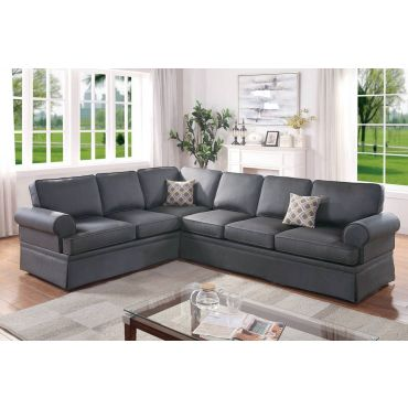 Lanette Sleep Cover Sectional Grey Fabric